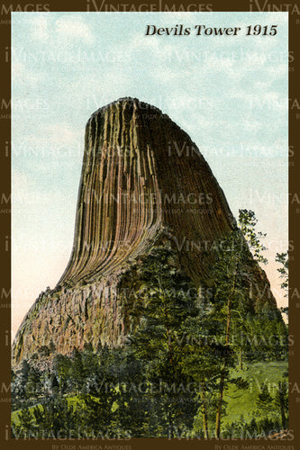 Devils Tower Postcard 1915 - 2