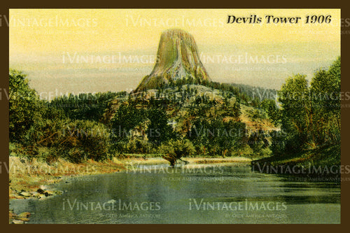 Devils Tower Postcard 1906 - 4
