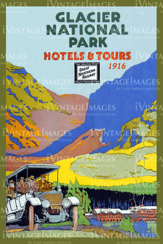 1916 Glacier National Park Hotels and Tours 1