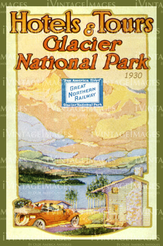 1930 Glacier National Park Hotels and Tours 1