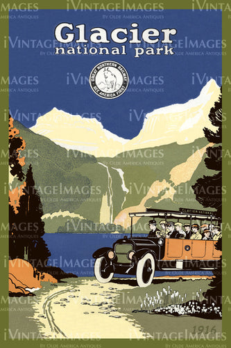 1916 Glacier National Park Tour Bus