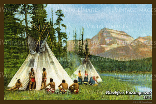 1915 Blackfeet Encampment