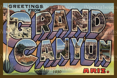 Grand Canyon Postcard 1930 - 1