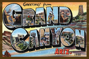 Grand Canyon Postcard 1930 - 5