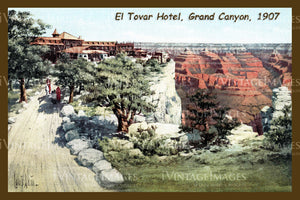 Grand Canyon Postcard 1907 - 9