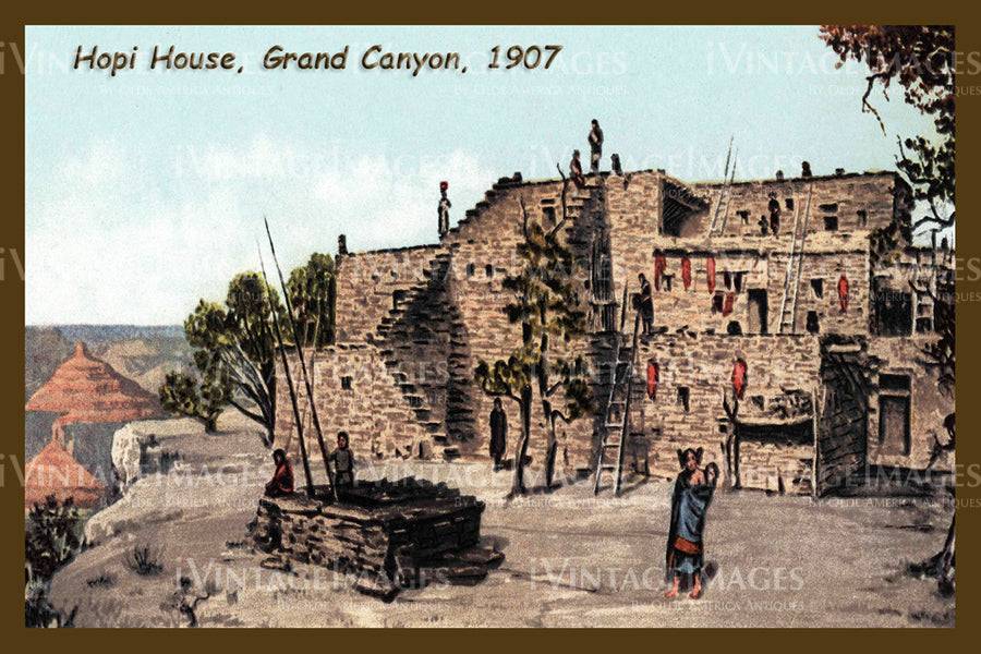 Grand Canyon Postcard 1907 - 14