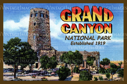 Grand Canyon Postcard 1935 - 25
