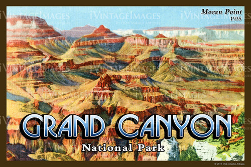 Grand Canyon Postcard 1935 - 37