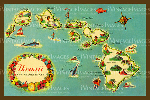 Hawaii Map 1950 - 15