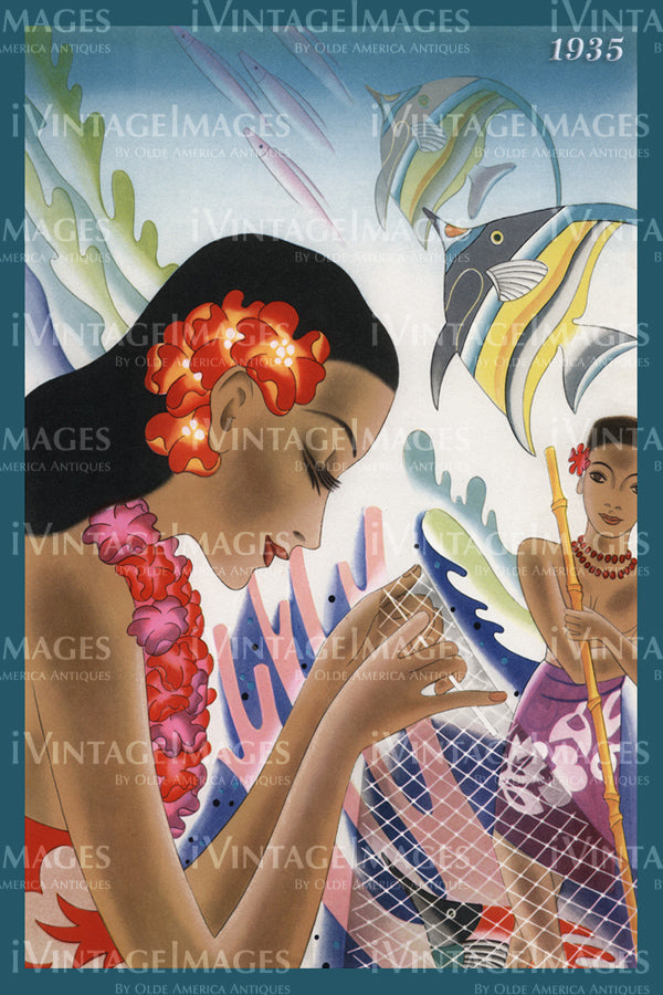 Hawaii Menu Cover 1935 - 19