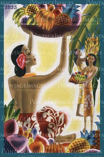 Hawaii Menu Cover 1935 - 21