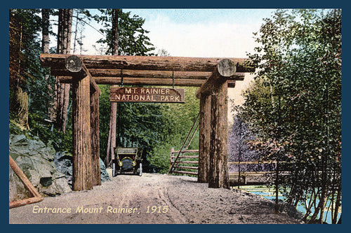 Mount Rainier Postcard 1915 - 2