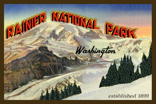 Mount Rainier Postcard 1930 - 5