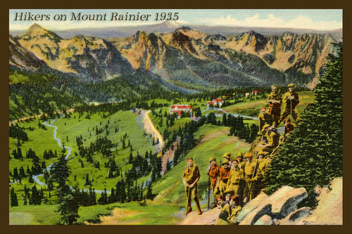 Mount Rainier Postcard 1935 - 6