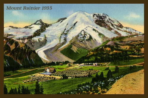 Mount Rainier Postcard 1935 - 7