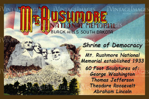 Mount Rushmore Postcard 1939 - 1