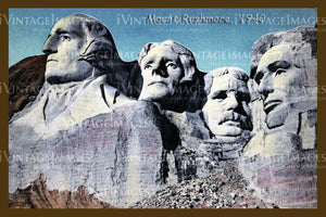 Mount Rushmore Postcard 1940 - 7
