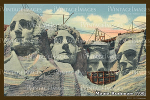 Mount Rushmore Postcard 1930 - 10