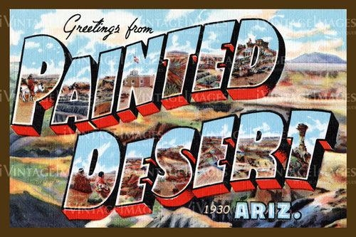 Painted Desert Postcard 1930 - 01