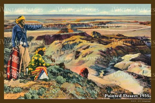 Painted Desert Postcard 1935 - 02