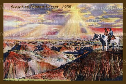 Painted Desert Postcard 1935 - 03