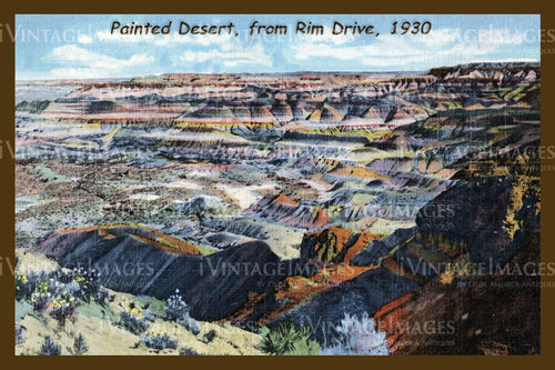 Painted Desert Postcard 1930 - 04