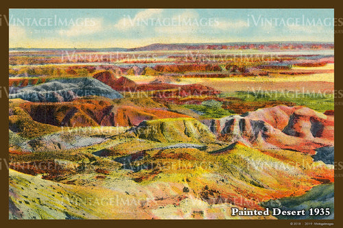 Painted Desert Postcard 1935 - 05