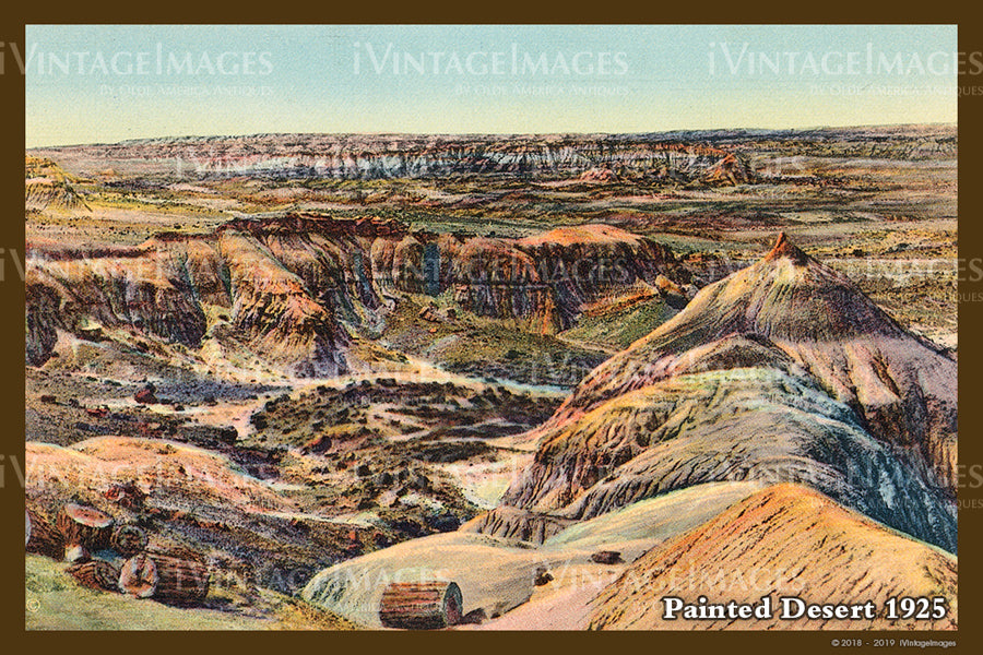 Painted Desert Postcard 1925 - 06