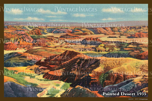 Painted Desert Postcard 1935 - 07