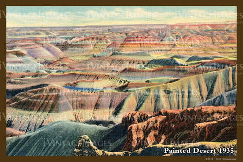 Painted Desert Postcard 1935 - 08