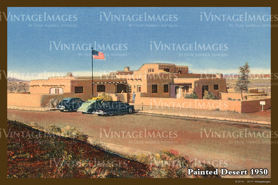 Painted Desert Postcard 1935 - 11