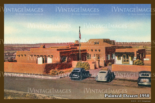 Painted Desert Postcard 1935 - 12