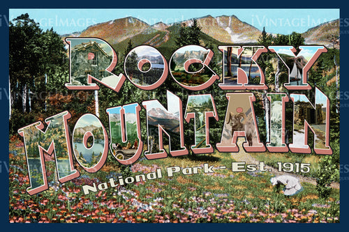 Rocky Mountain Postcard 1915 - 1