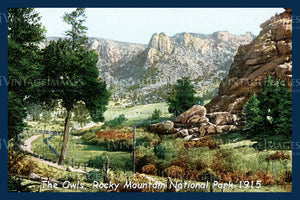 Rocky Mountain Postcard 1915 - 2