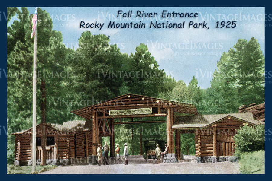 Rocky Mountain Postcard 1925 - 3