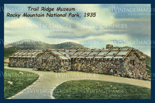 Rocky Mountain Postcard 1935 - 6