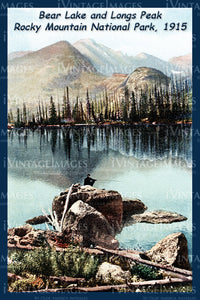 Rocky Mountain Postcard 1915 - 8