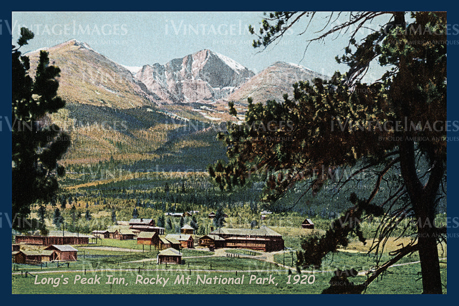 Rocky Mountain Postcard 1920 - 12