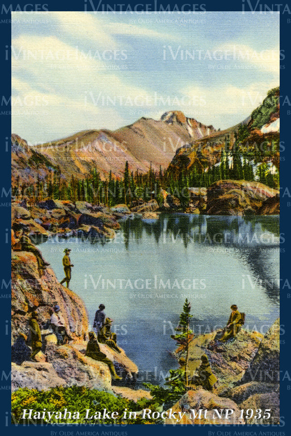 Rocky Mountain Postcard 1935 - 16