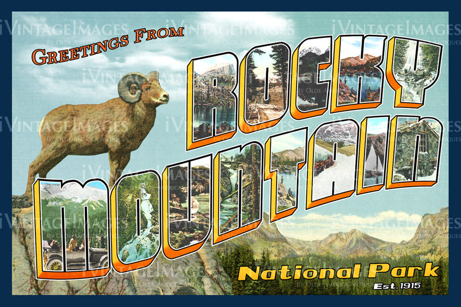 Rocky Mountain Postcard 1925 - 17