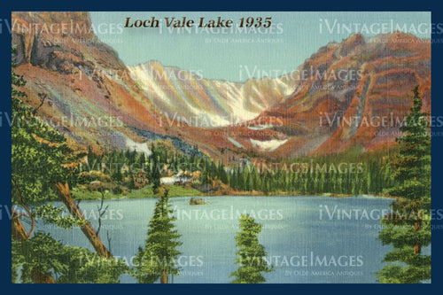Rocky Mountain Postcard 1935 - 20