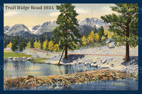 Rocky Mountain Postcard 1935 - 22