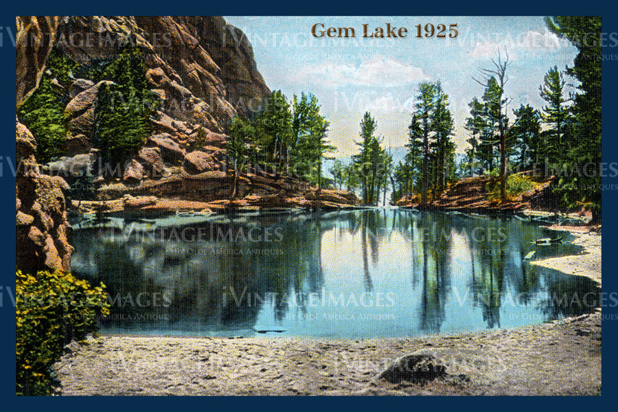 Rocky Mountain Postcard 1925 - 24