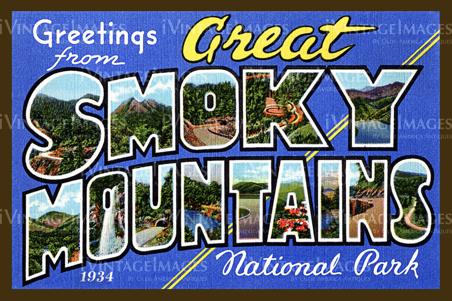 Great Smoky Mountains Postcard 1930 - 01