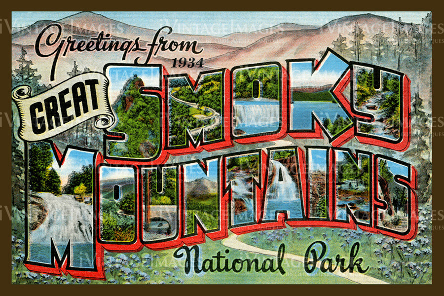 Great Smoky Mountains Postcard 1934 - 05