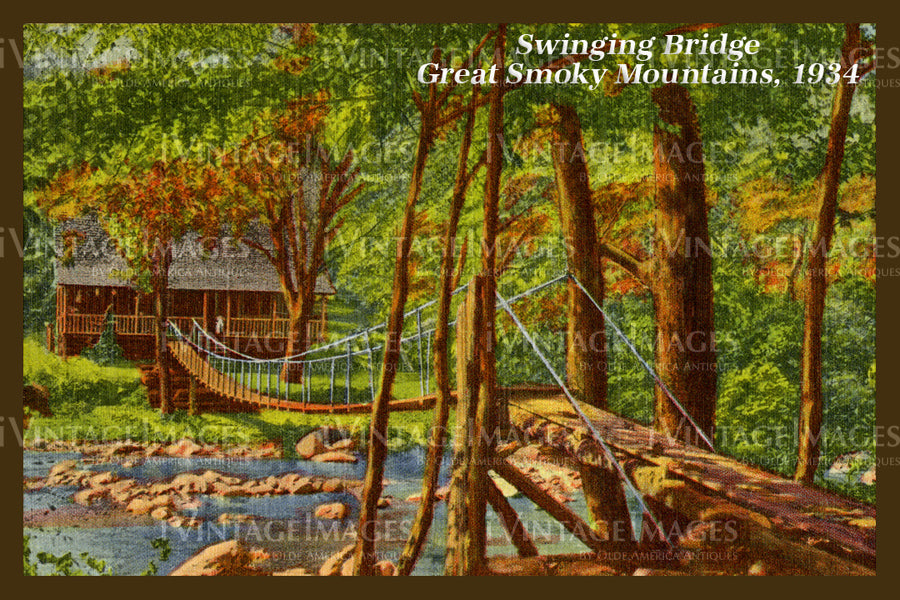 Great Smoky Mountains Postcard 1934 - 06