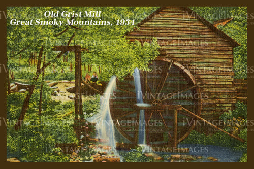 Great Smoky Mountains Postcard 1934 - 07