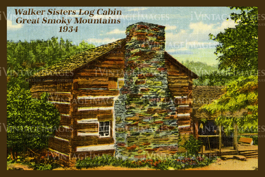 Great Smoky Mountains Postcard 1934 - 08