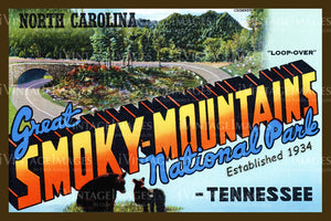 Great Smoky Mountains Postcard 1934 - 09