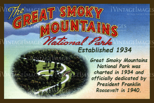 Great Smoky Mountains Postcard 1934 - 13
